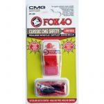 síp Fox 40 CMG Classic Safety + zsinór 9603-0108 piros