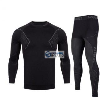 Alpinus Aktív Base Layer Set termoaktív underwear fekete és szürke M GT43257